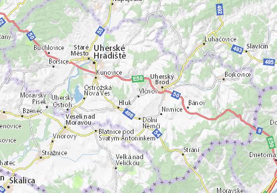Vlčnov Map