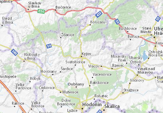 Carte-Plan Kyjov