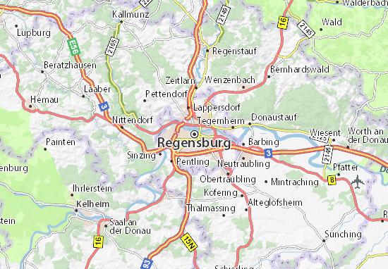 Kaart Plattegrond Regensburg