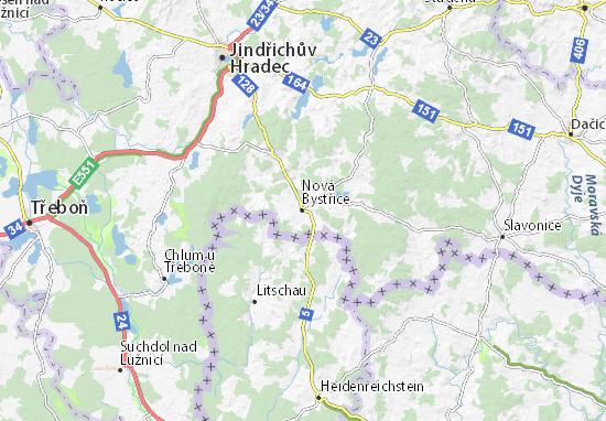 Mapas-Planos Nová Bystřice