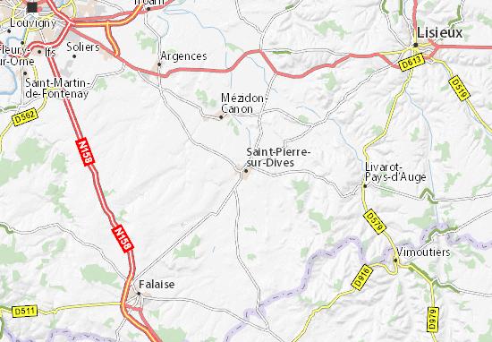 Mapas-Planos Saint-Pierre-sur-Dives