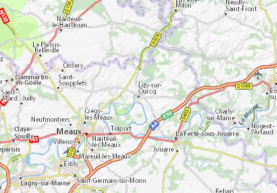 Lizy-sur-Ourcq Map