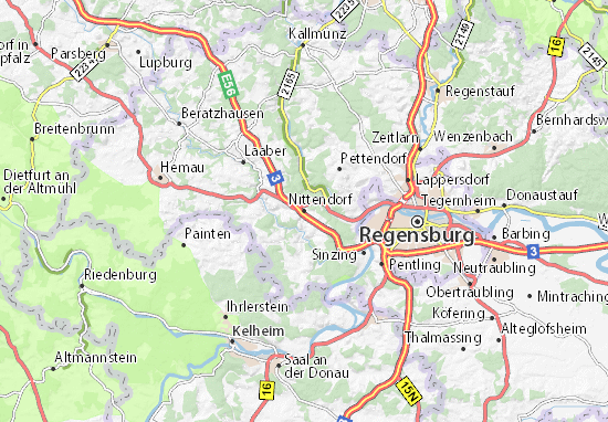 Nittendorf Map