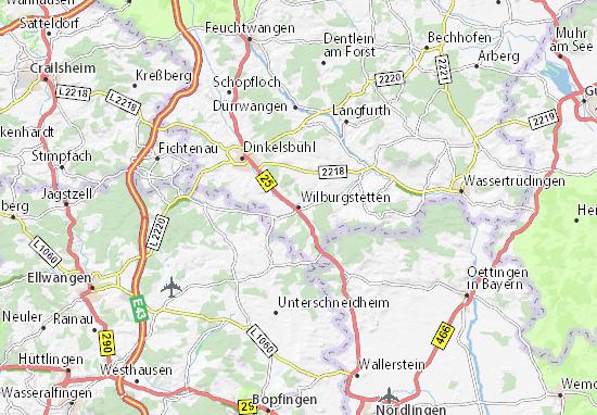 Carte-Plan Wilburgstetten