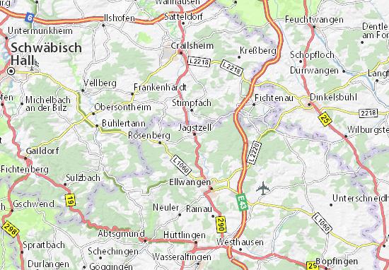 Jagstzell Map