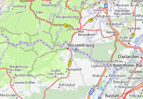 Wissembourg Carte Alsace.Carte Detaillee Altenstadt Plan Altenstadt Viamichelin