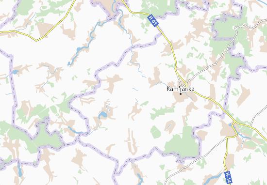 Mapas-Planos Lebedivka