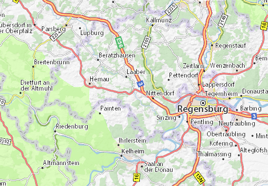 Karte Stadtplan Deuerling