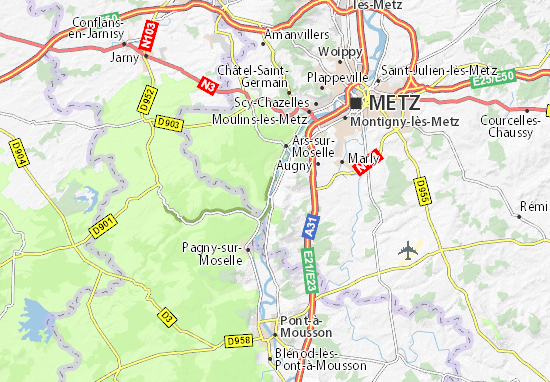 Corny-sur-Moselle Map