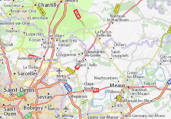 Karte Stadtplan Saint-Mard