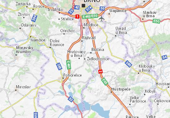 Carte-Plan Židlochovice