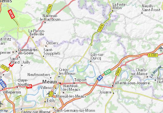 carte zoo de beauval Carte détaillée Beauval   plan Beauval   ViaMichelin