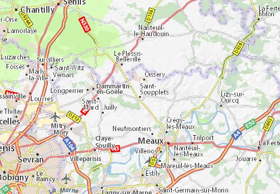 Saint-Soupplets Map