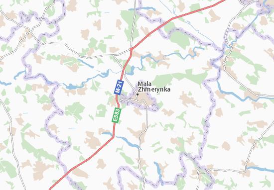 Kaart Plattegrond Mala Zhmerynka
