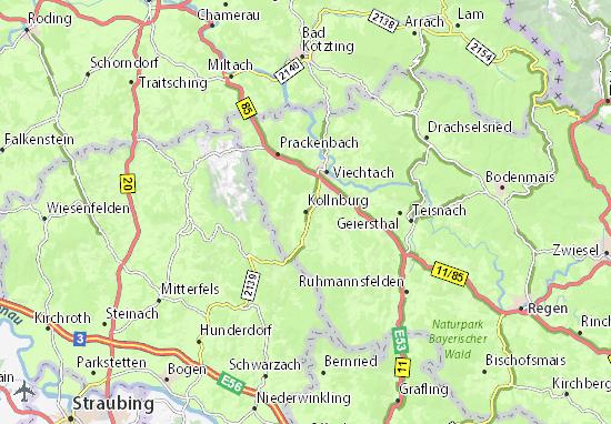 Karte Stadtplan Kollnburg