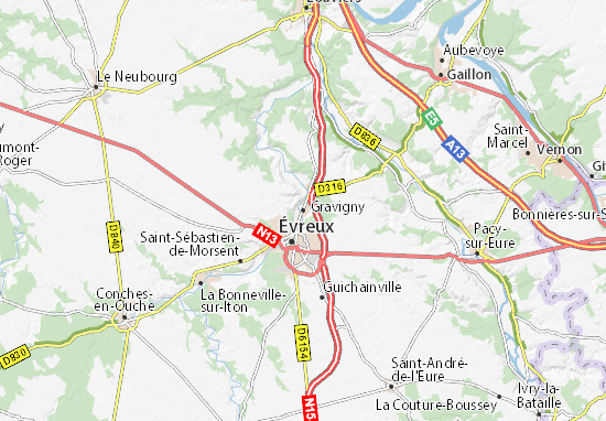 Gravigny Map