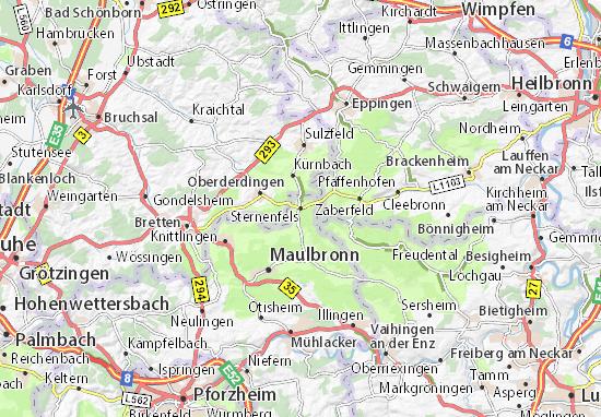 Karte Stadtplan Sternenfels