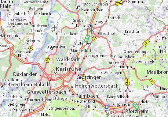 Kaart Plattegrond Weingarten