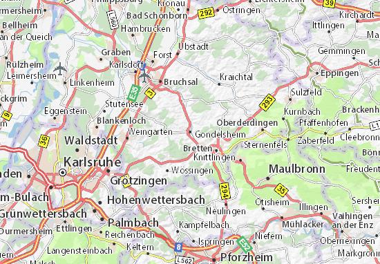Mappe-Piantine Gondelsheim