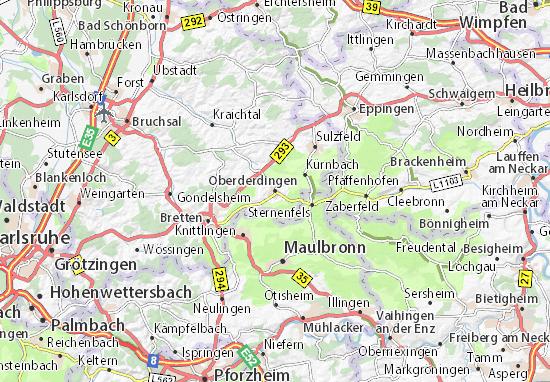 Oberderdingen Map