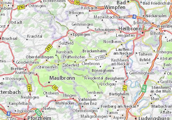 Carte-Plan Pfaffenhofen