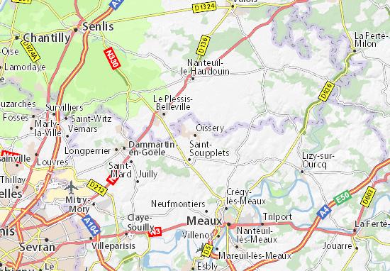 Karte Stadtplan Oissery