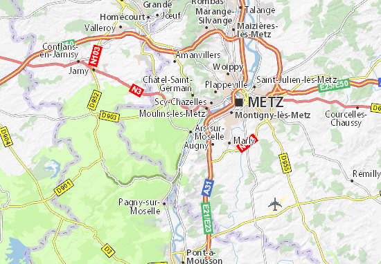 Ars-sur-Moselle Map