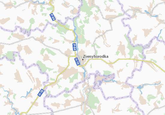 Zvenyhorodka Map