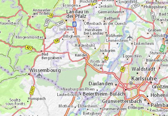 Karte Stadtplan Kandel