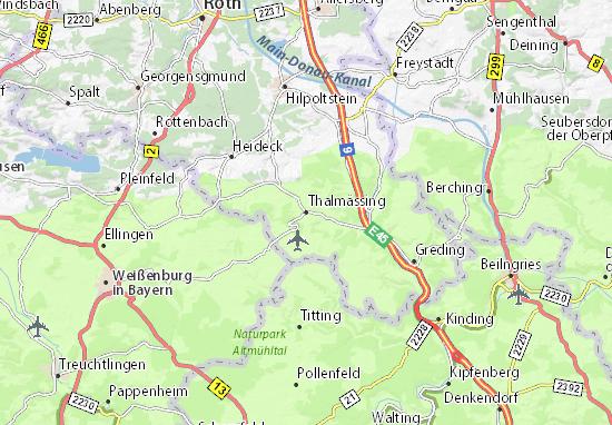 Thalmässing Map