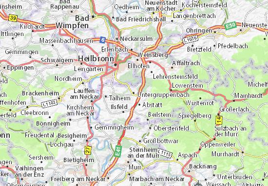 Karte Stadtplan Untergruppenbach