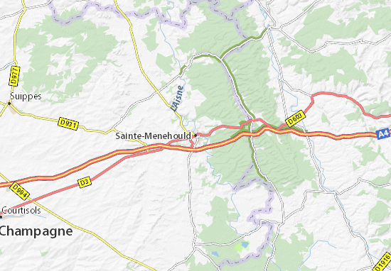 Carte-Plan Sainte-Menehould