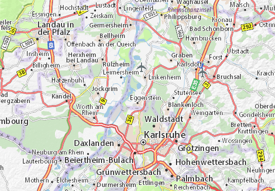 Karte Stadtplan Eggenstein-Leopoldshafen