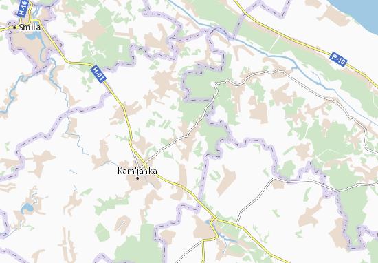 Mapas-Planos Hrushkivka