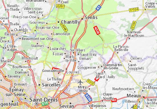 Carte-Plan Saint-Witz