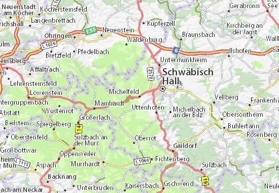 Karte Stadtplan Michelfeld