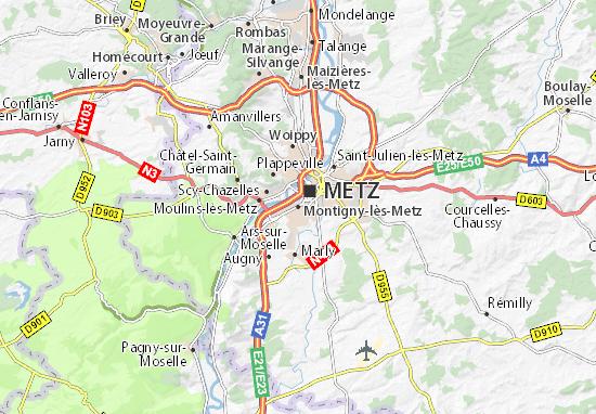 Carte-Plan Montigny-lès-Metz