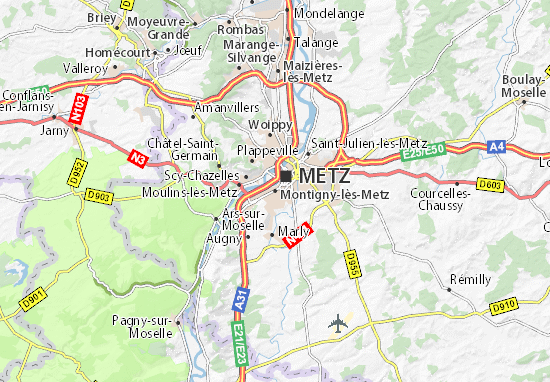 Mapa Plano Montigny-lès-Metz