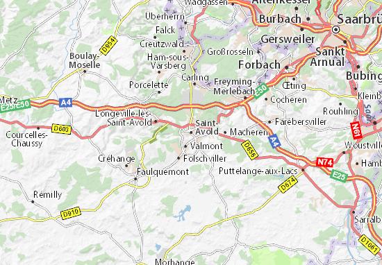 Kaart Plattegrond Saint-Avold