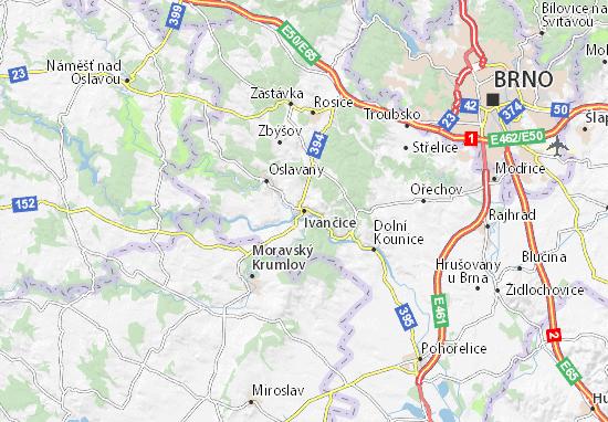Carte-Plan Ivančice