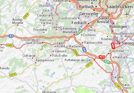 Karte Stadtplan Macheren