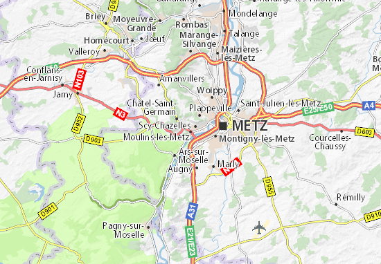 Mappe-Piantine Moulins-lès-Metz