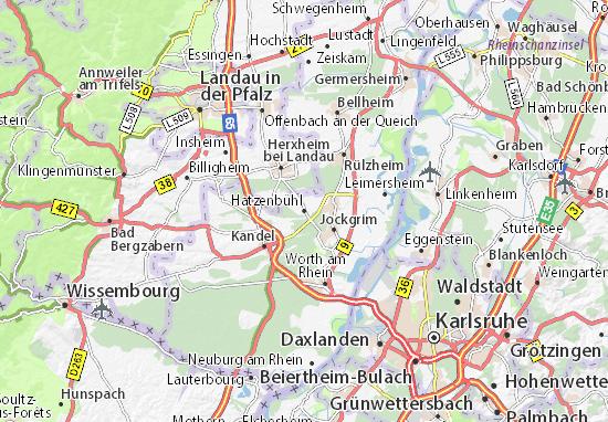 Karte Stadtplan Hatzenbühl