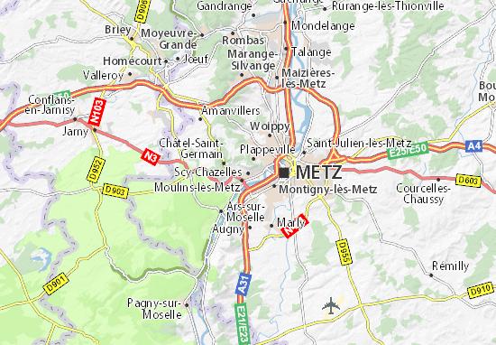 Karte Stadtplan Scy-Chazelles