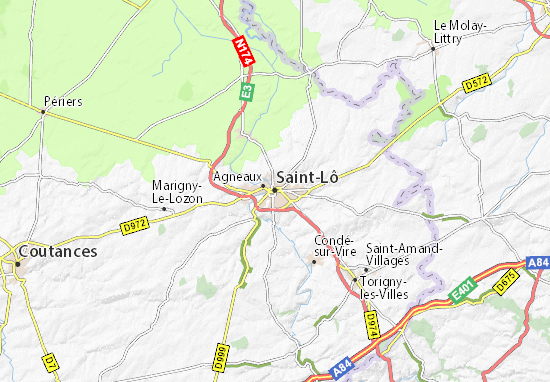 Mapa Plano Saint-Lô