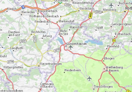 Mapas-Planos Gunzenhausen