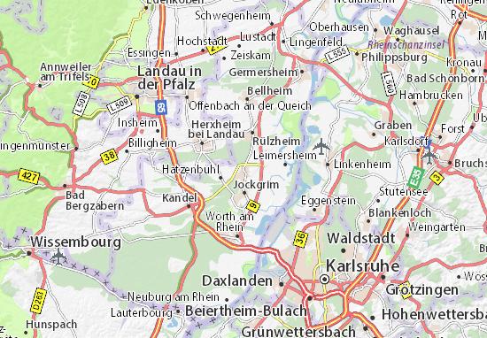 Kaart Plattegrond Rheinzabern