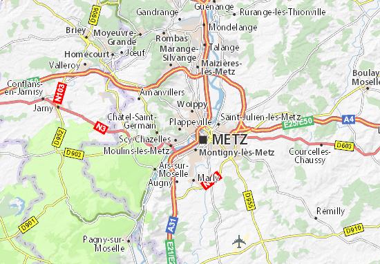 Mapa Plano Le Ban-Saint-Martin