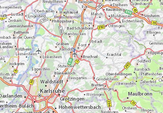 Karte Stadtplan Bruchsal