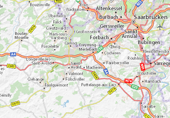 Karte Stadtplan Hombourg-Haut